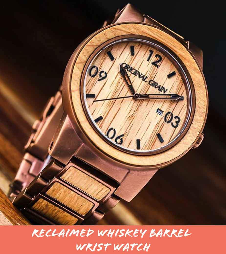 Reclaimed Whiskey Barrel Wrist Watch