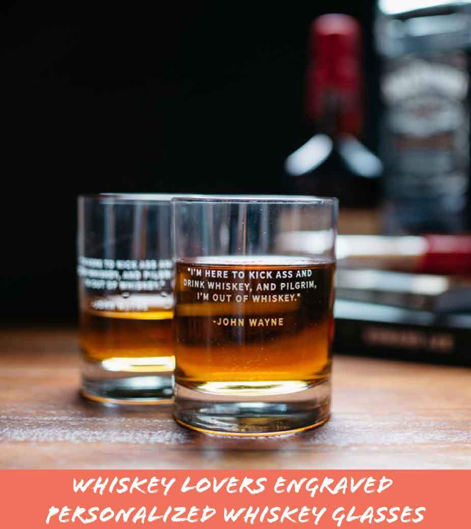 Whiskey Lovers Engraved Personalized Whiskey Glasses
