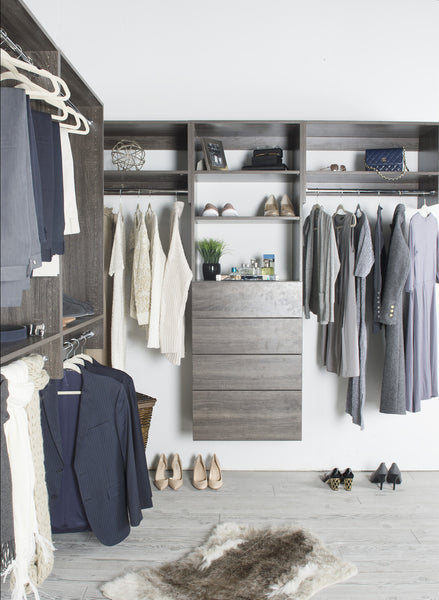 Modular Closets Driftwood Grey Closet Systems (Woodworking Network, April 7, 2017)