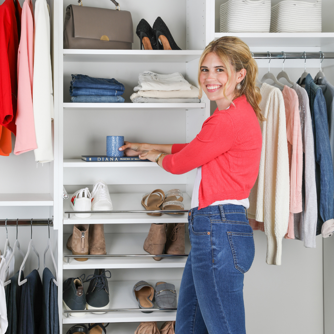 Christina's Corner // Styling Your Closet Shelves Can Change Everything