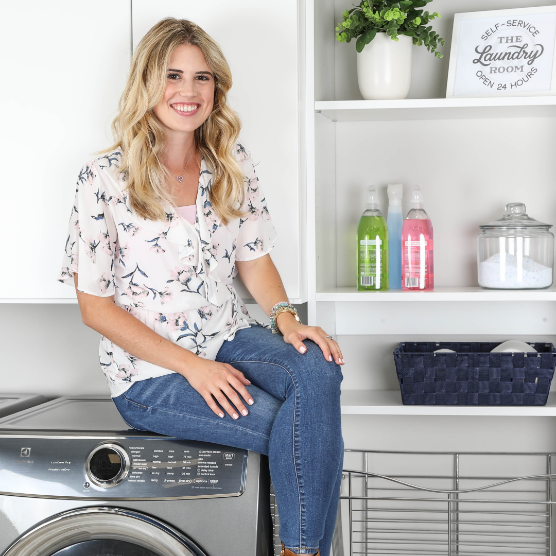 Christina's Corner // Solid Shelves Were Made For Laundry Rooms