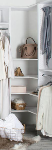 Modular Closets Corner Shelves