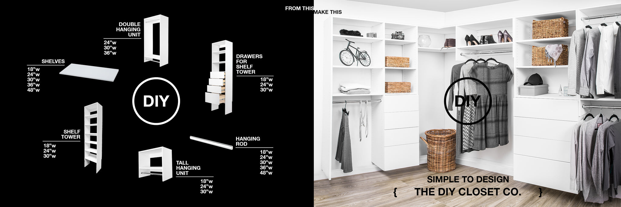 Modular Closets : The Do-It-Yourself Closet Company