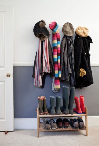 Entry Zone Organized Coats, Hooks, Shoes via CULTURA RM/SVERRE HAUGLAND
