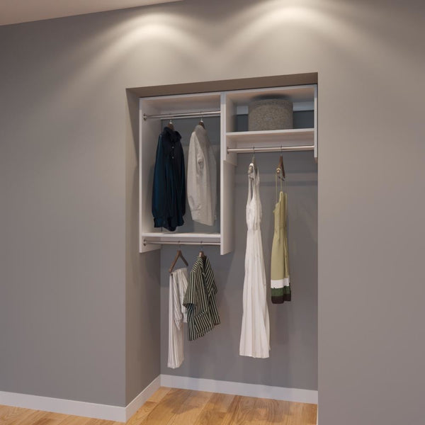 Modular Closets 4 Ft Closet Organizer System   48 Inch   Style A
