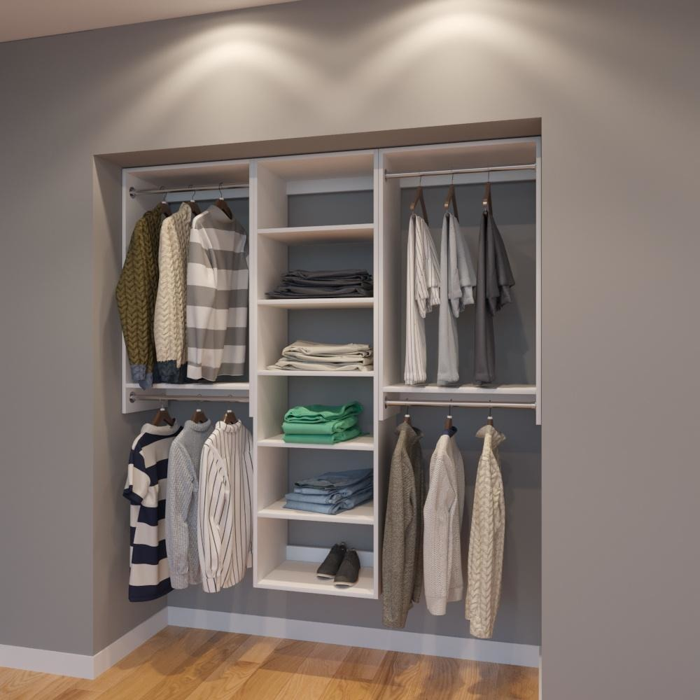 High Quality Modular Closets 6 FT Closet Organizer System   72 Inch   Style C