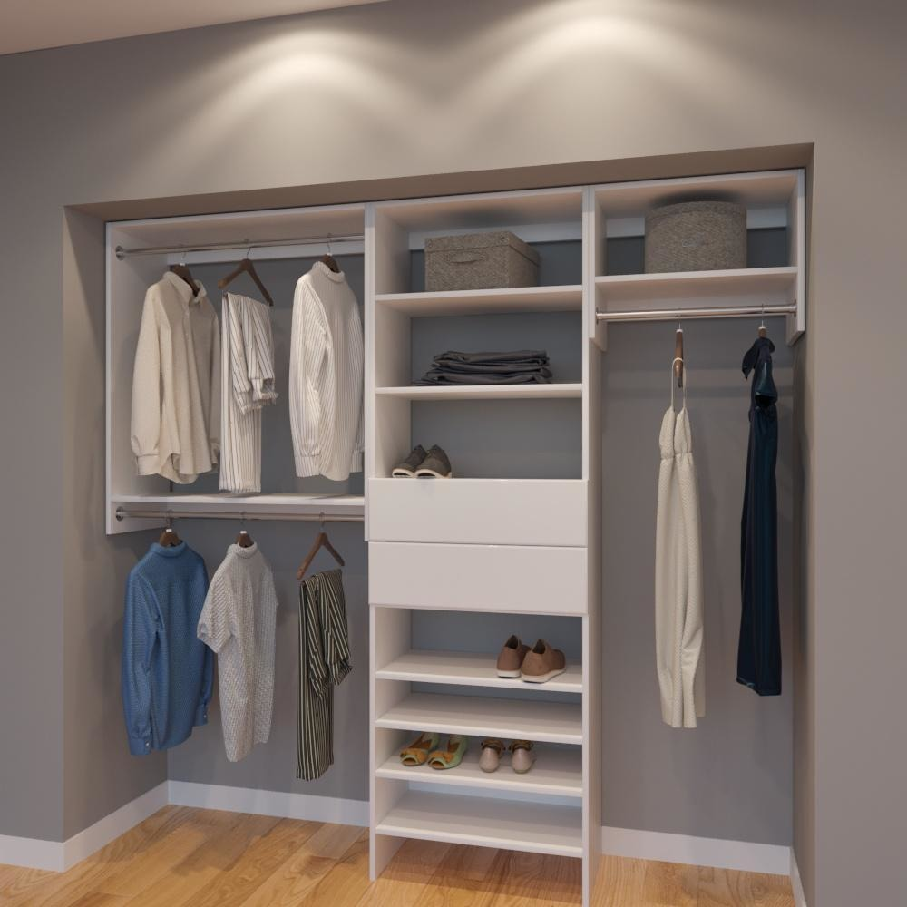 Exceptionnel Modular Closets 7.5 FT Closet Organizer System   90 Inch   Style F