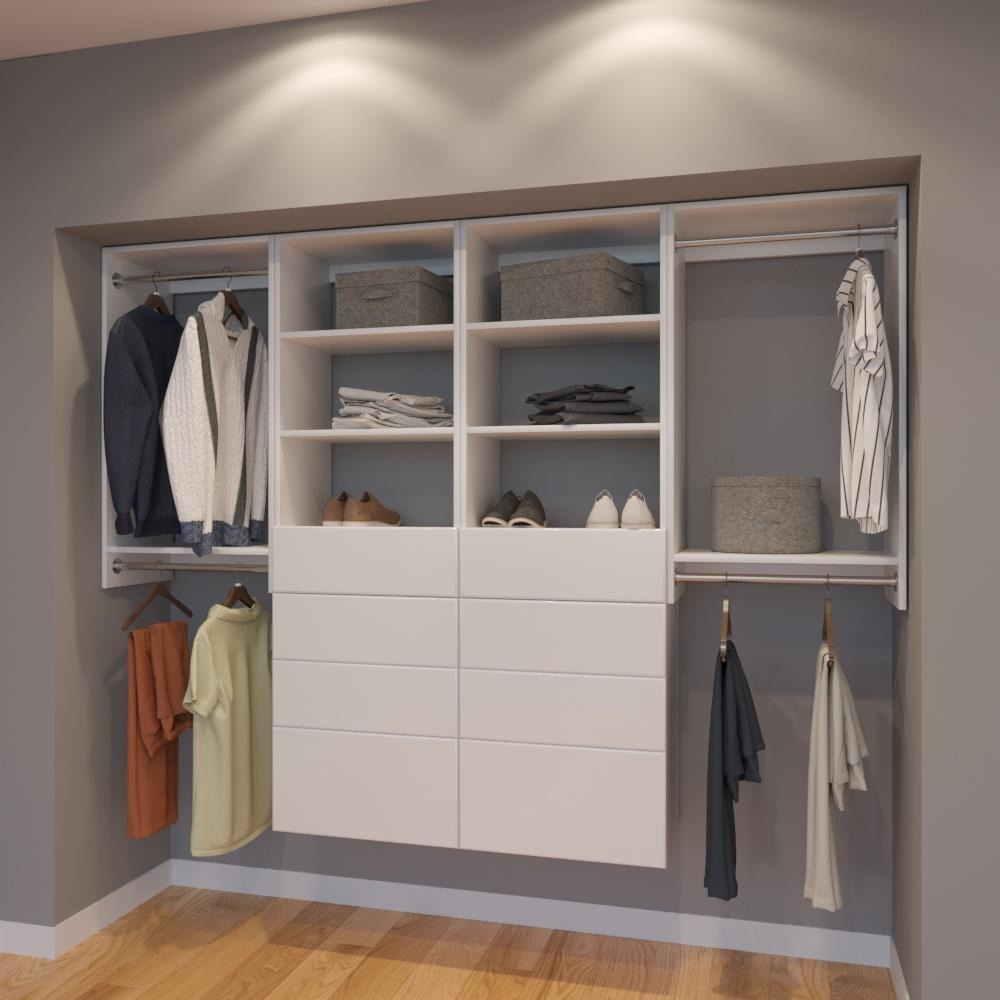 Modular Closets 8 FT Closet Organizer System   96 Inch   Style G