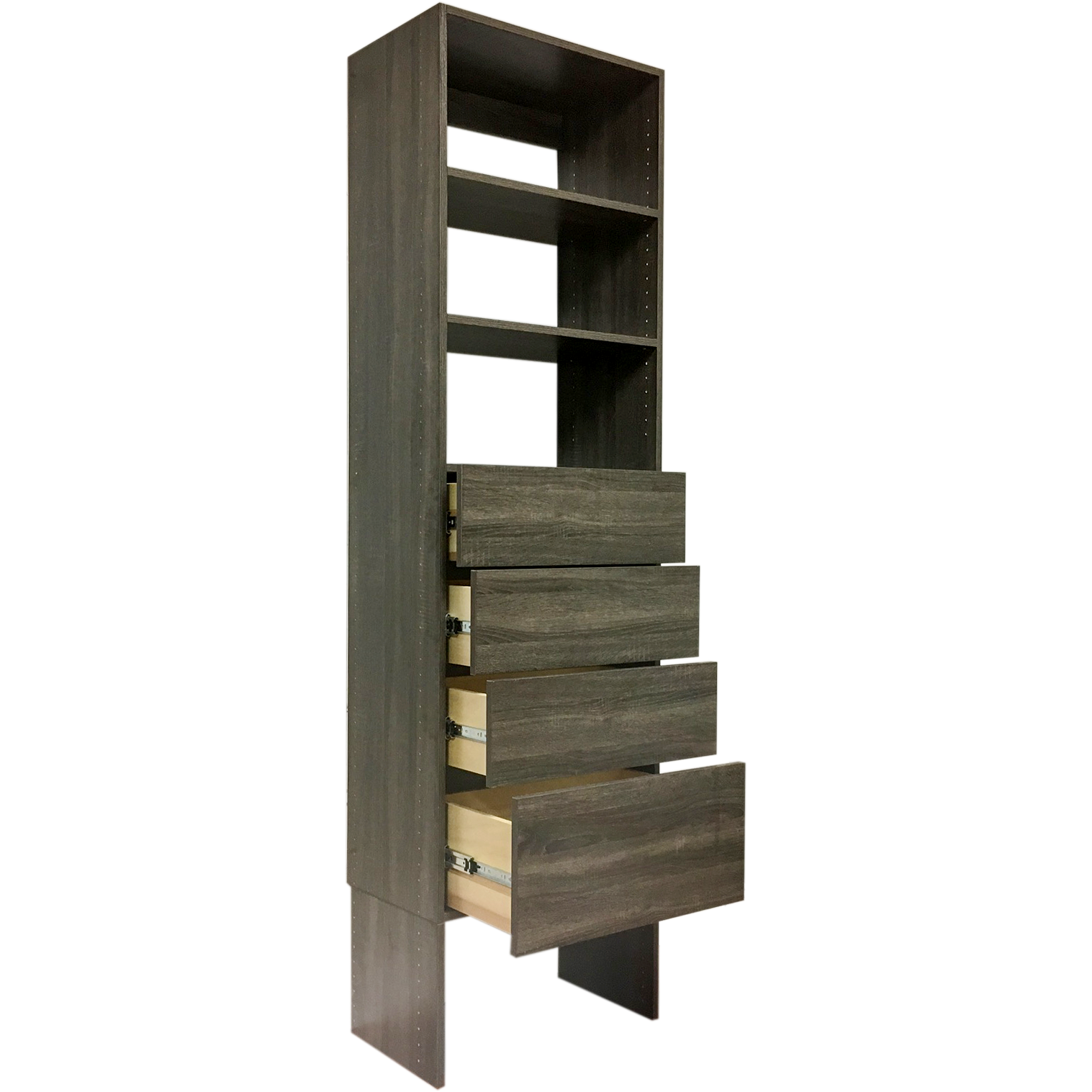 Closet Tower With Drawers Modular Closets Wood Shelf Tower Closet Organizer System With Solid Wo