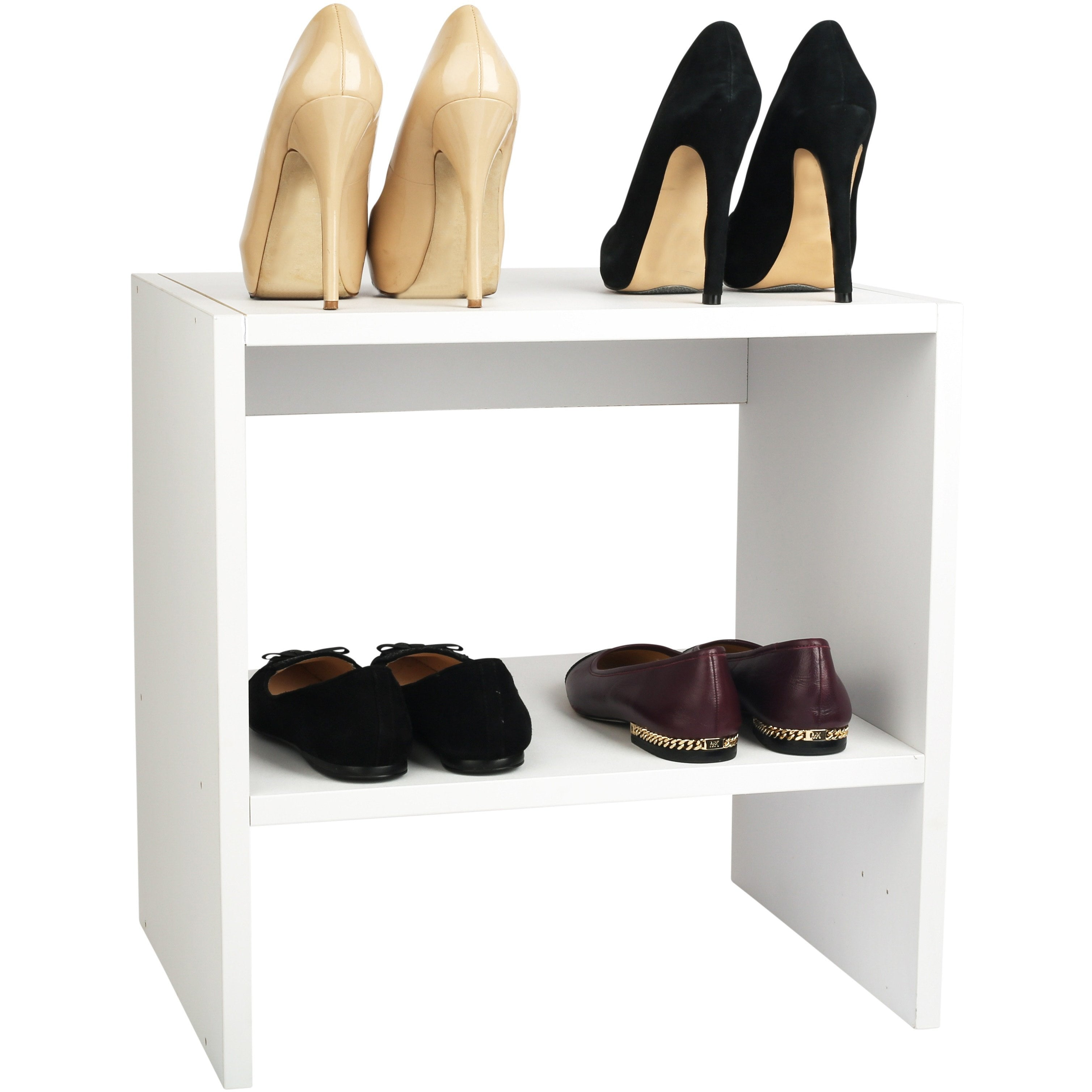 ... Modular Closets Short Shoe Tower With Shoes ...