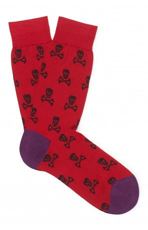 New & Lingwood Skull Short Sock