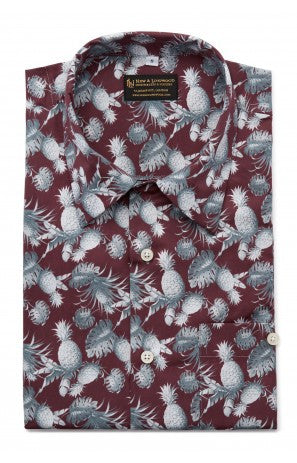 New & Lingwood Pineapple Hawaiian Shirt