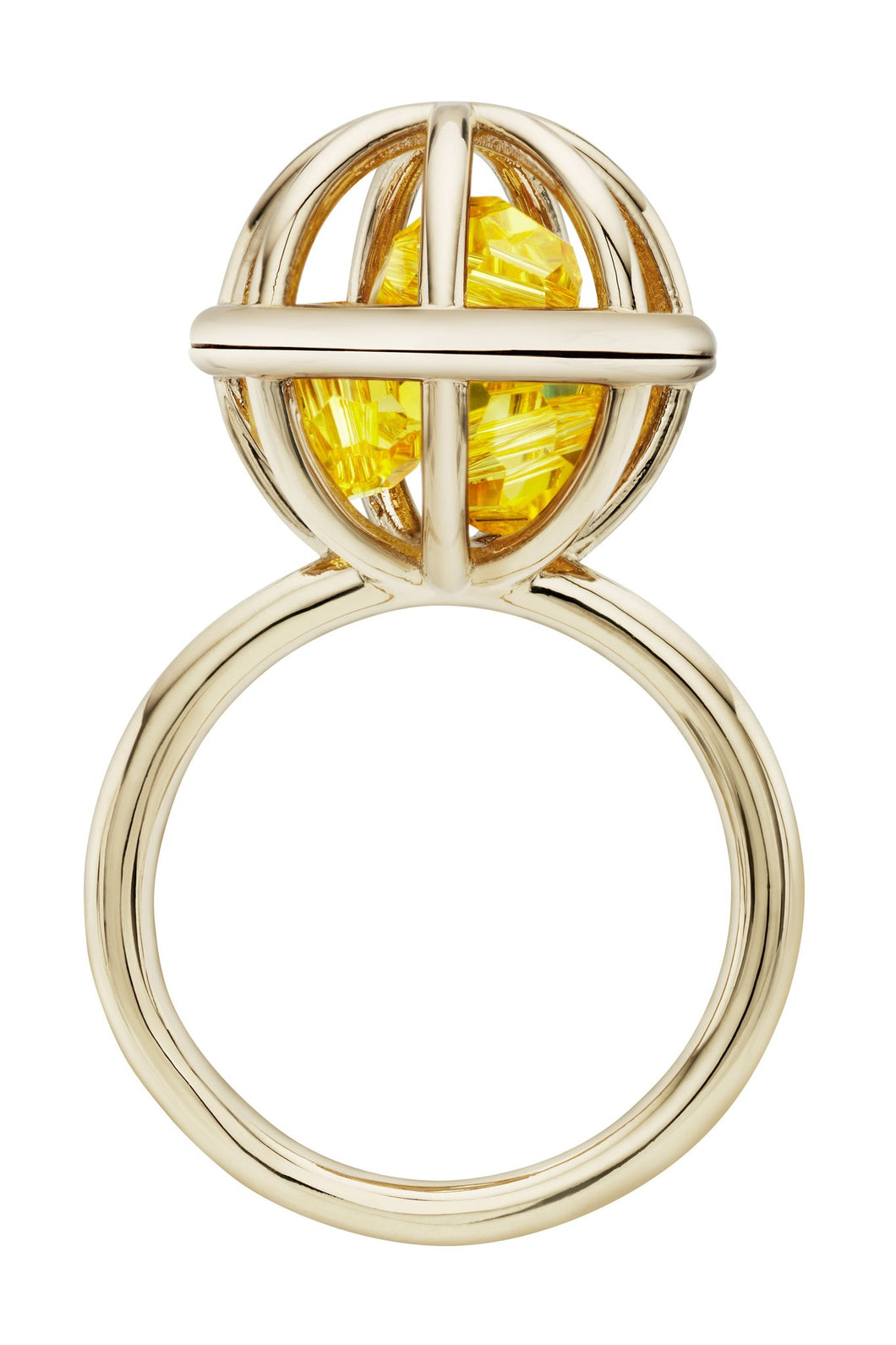 Atelier Swarovski X Mary Katrantzou Nostalgia Sphere Ring Light Topaz