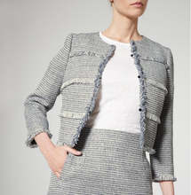 LK Bennett Josie Navy Tweed Jacket