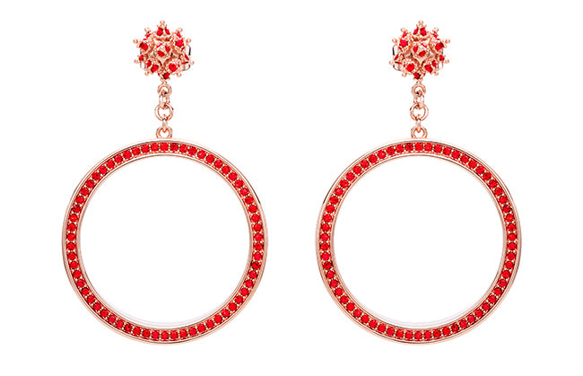 Atelier Swarovski The Greatest Showman Collection Hoop Earrings