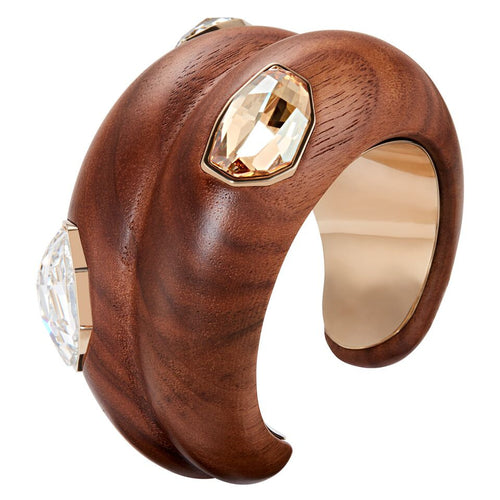 Fiona Kotur Wood Crystalized Large Cuff-Neutral Gold