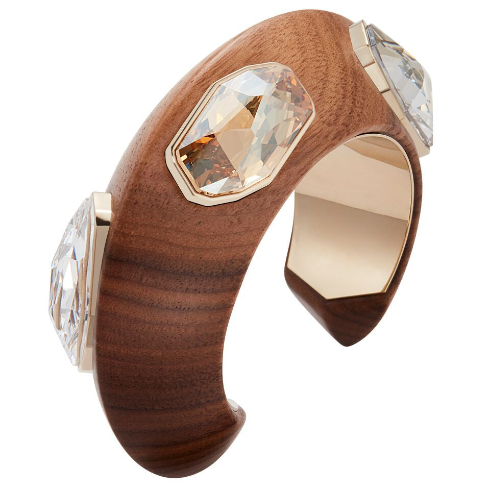 Fiona Kotur Wood Crystalized Cuff