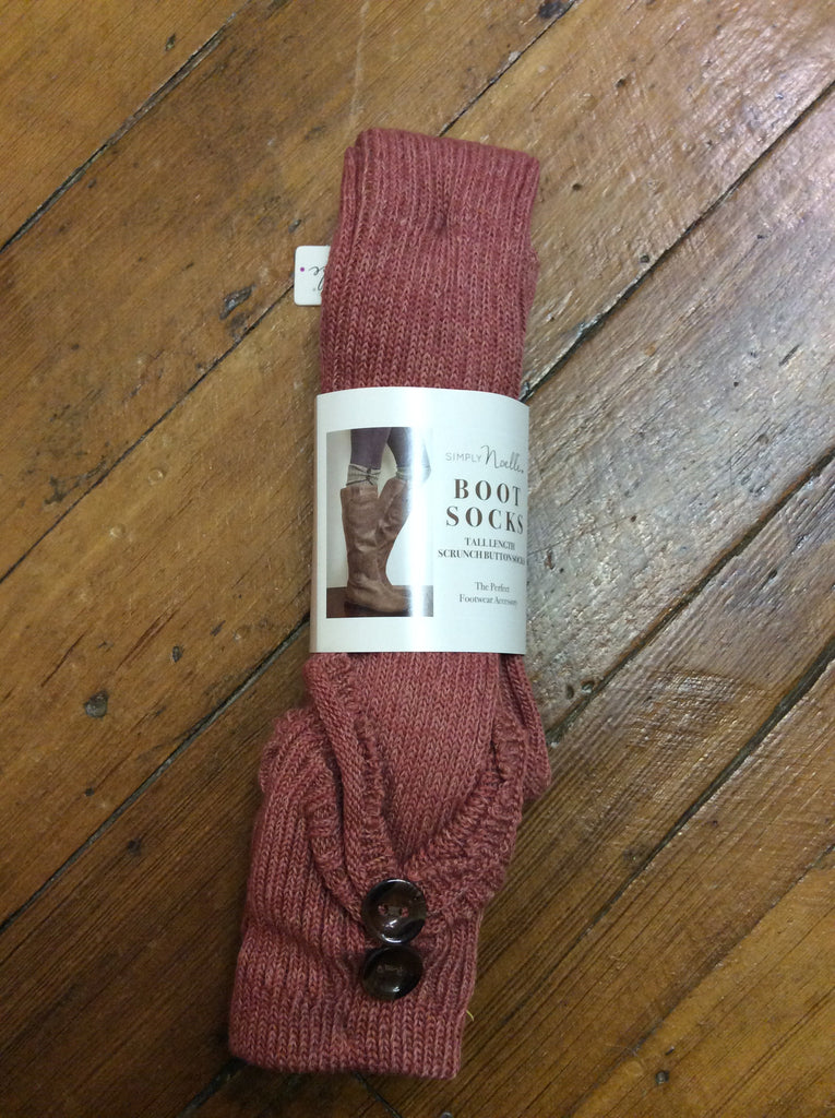 Simply Noelle | Tall Scrunch Boot Socks