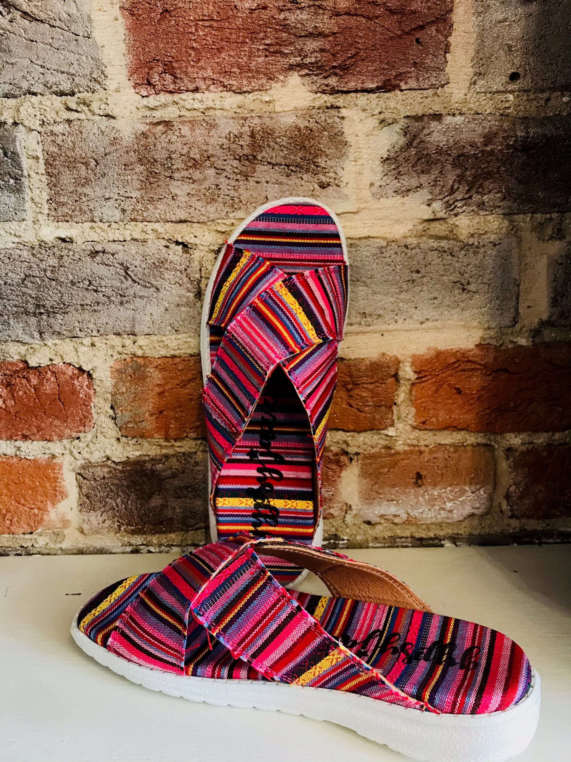 Colorful Striped Sandal