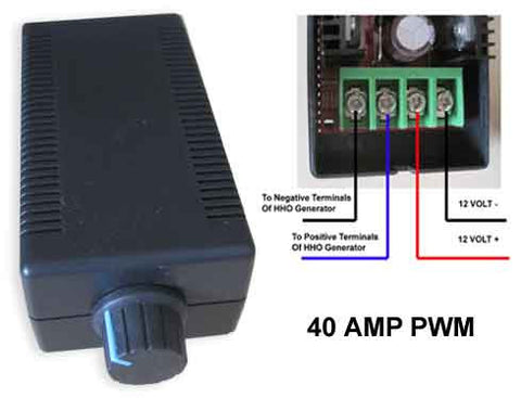 40 amp PWM for precise control of your hho kit