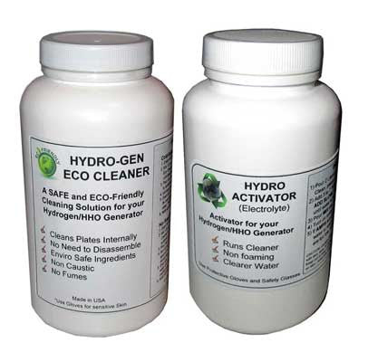 Power Pack - eco cleaner and electrolyte for hho generator kits