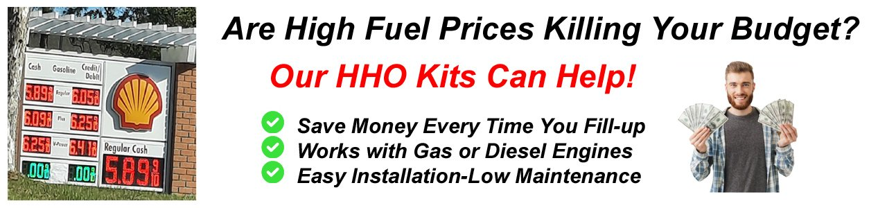 Quickly Convert Any Vehicle to Hydrogen with our HHO kits