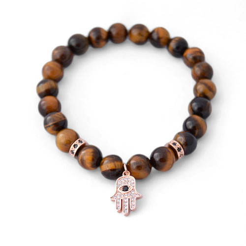 Marbella - Rose Hamsa & Tiger Eye