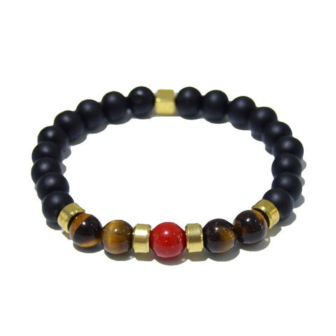 Onyx Tiger Eye and Red Coral