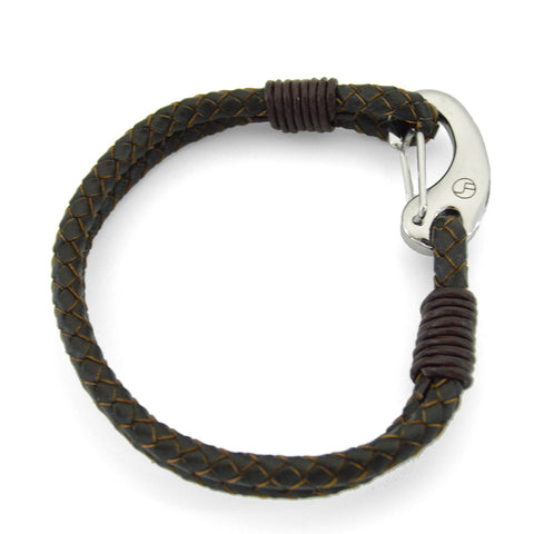 Brown Leather & Stainless Steel Hook