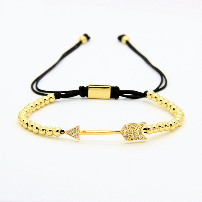 Arrow Macrame Gold Bracelet