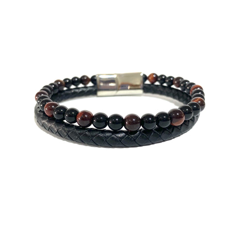 The Double- Red Tigers Eye & Onyx