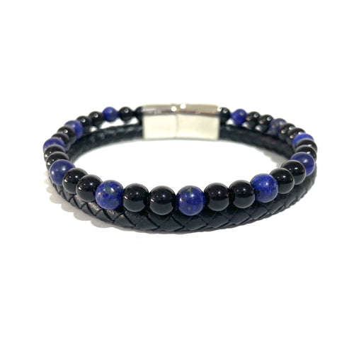 The Double- Lapiz Lazuli & Polished Onyx