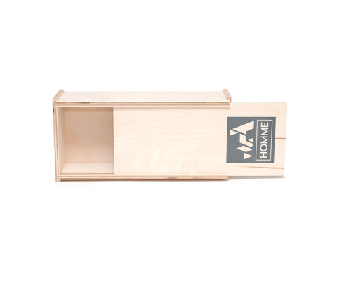 custom printed sliding lid birch box