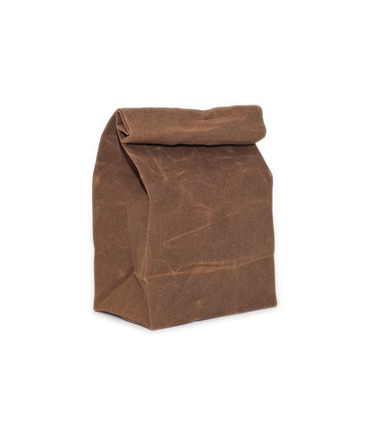 waxed canvas lunch bag brown reusable eco friendly