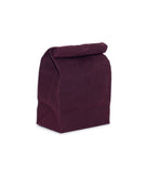 waxed canvas lunch bag berry maroon reusable eco friendly