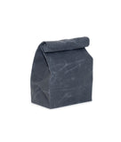 waxed canvas lunch bag charcoal gray reusable eco friendly