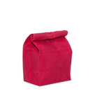 waxed canvas lunch bag cherry red reusable eco friendly