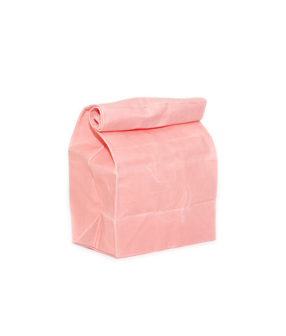 waxed canvas lunch bag pink coral reusable eco friendly