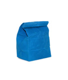 waxed canvas lunch bag cyan blue reusable eco friendly