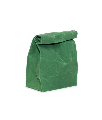 waxed canvas lunch bag emerald green reusable eco friendly
