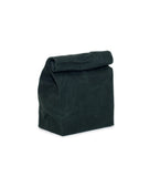 waxed canvas lunch bag forest green reusable eco friendly