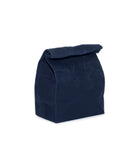 waxed canvas lunch bag navy blue reusable eco friendly