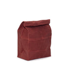 waxed canvas lunch bag scarlet red reusable eco friendly