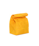 waxed canvas lunch bag yellow reusable eco friendly