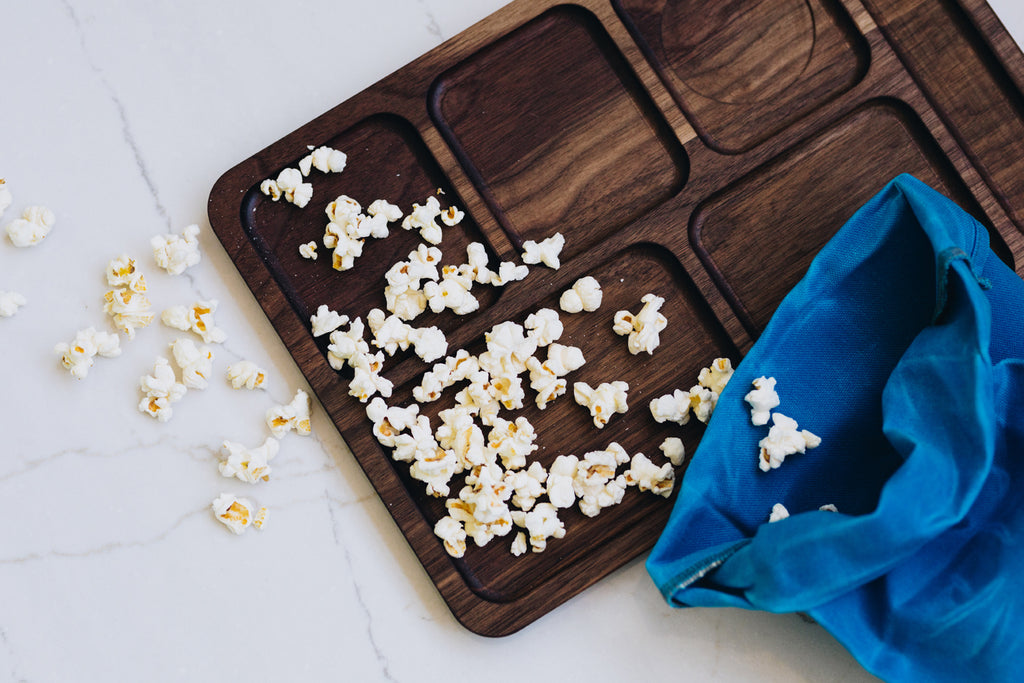 Walnut Lunch Tray // Cyan Lunch Bag