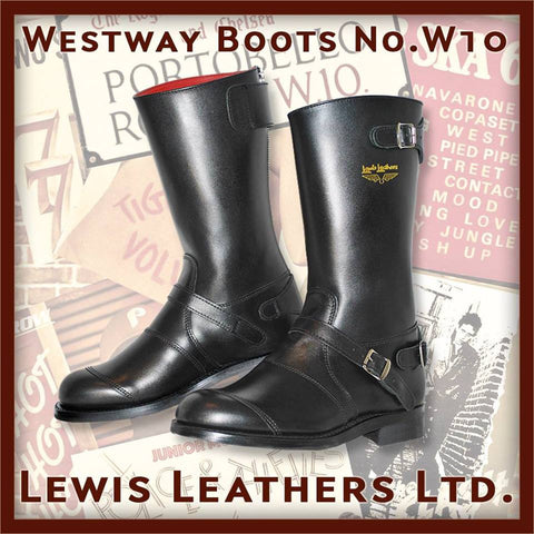 "Lewis Leathers Boots ""Westway"" Black (LL W10-Black)"