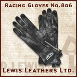 "Lewis Leathers Gloves ""Racing"" Black (LL 806)"