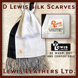 Lewis Leathers Silk Scarf White & Black