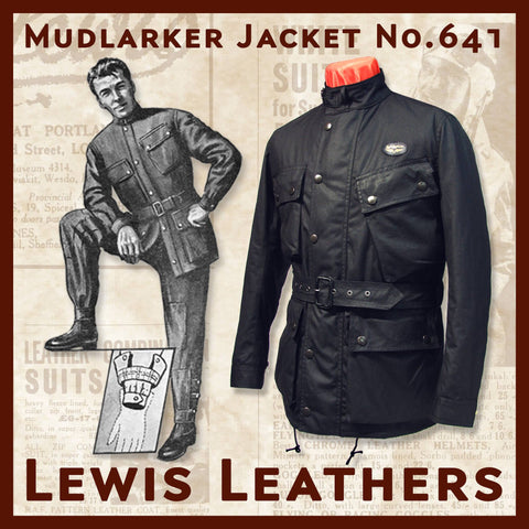 "Lewis Leathers Jacket Men ""Mudlarker"" Black (LL 641-Black)"