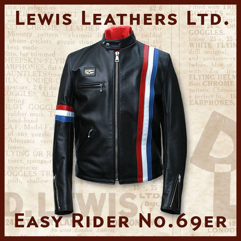 "Lewis Leathers Jacket Men ""Easy Rider"" Black Cow (LL 69ER-Black)"